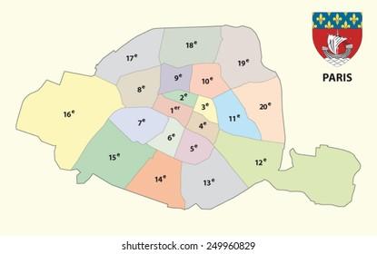 paris administrative map