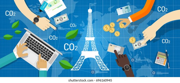Paris agreement climate accord carbon emission reduction global