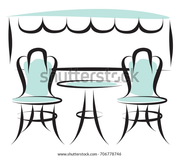 Paris Cafe Outdoor Patio Chairs and Table