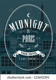 paris city template vector/illustration
