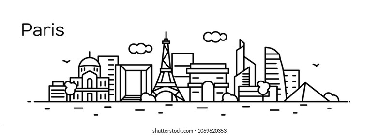 Paris city. Vector illustration