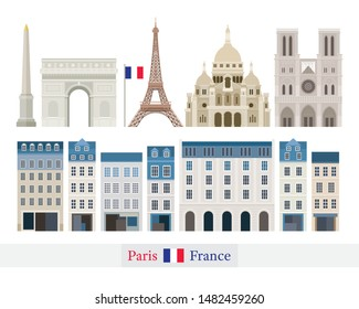 Paris, France Building Landmarks, Famous Place, Travel and Tourist Attraction