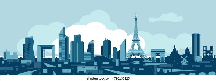 Paris France skyline