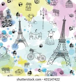 Фотообои Paris Glamour Pattern