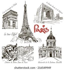 Paris - hand drawn architecture.