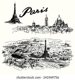 Paris - hand drawn set