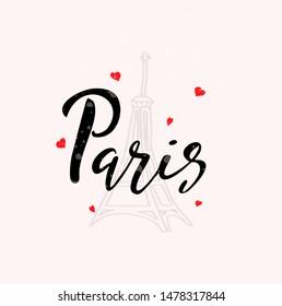 Paris Calligraphy Images, Stock Photos & Vectors   Shutterstock