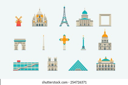 Paris historical and modern building