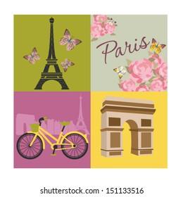 Фотообои Paris with love