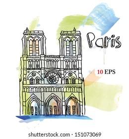 Paris, Notre Dame Cathedral.