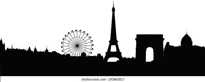 Paris panorama vector