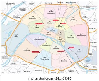 Paris Arrondissements Images Stock Photos Vectors Shutterstock - Show map of paris arrondissements