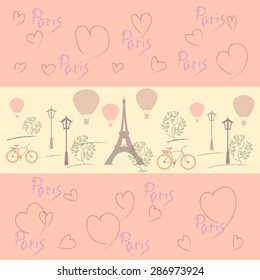 Фотообои Paris, romance and travel