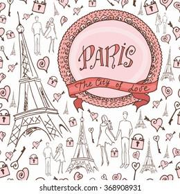 Paris Romantic City Pattern