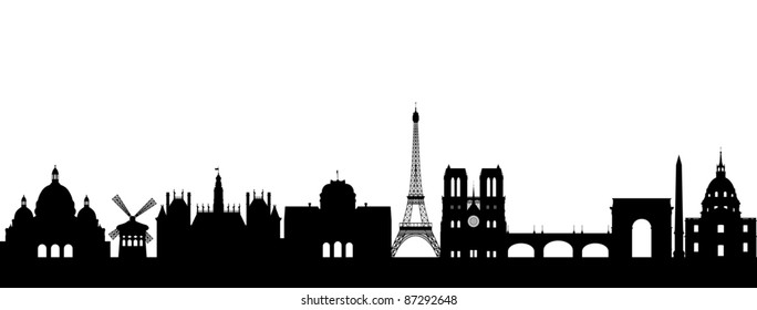 Paris Skyline abstract