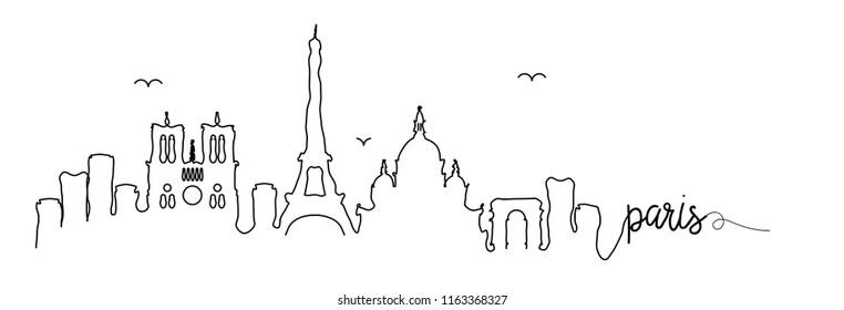 Paris Skyline Signature Design