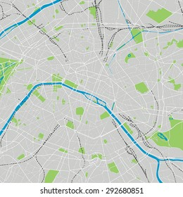 Paris vector map ultra detailed