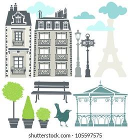 Parisian elements - EPS 8 vector file
