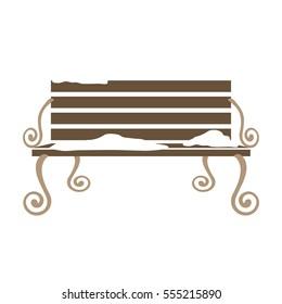 park bench icon image vector illustration design