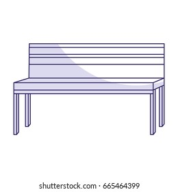 Park bench isolated icon