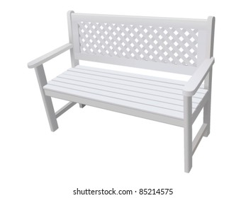 park bench isolated - vector