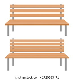 Park bench vector design illustration isolated on white background
