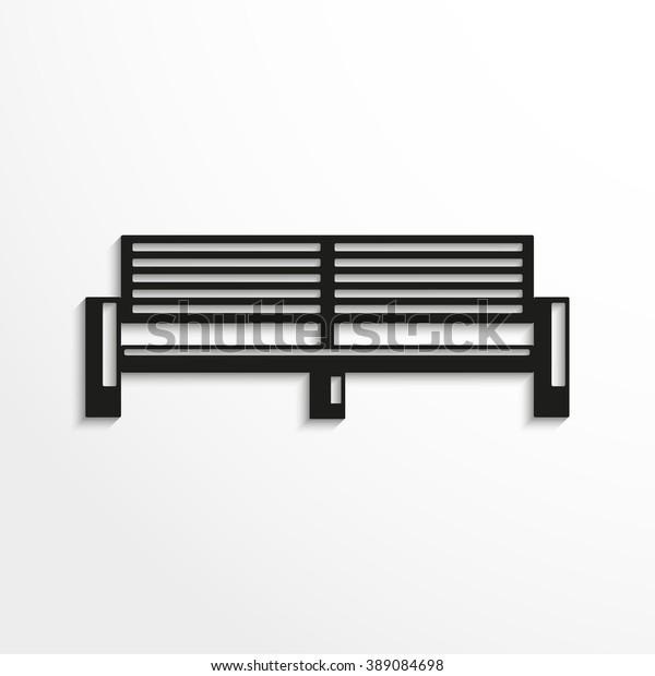 Magnificent Park Bench Vector Illustration Black White Stock Vector Creativecarmelina Interior Chair Design Creativecarmelinacom
