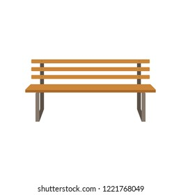 park bench vector illustration flat style front view