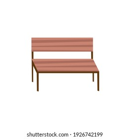 park chair wooden isolated icon vector illustration design