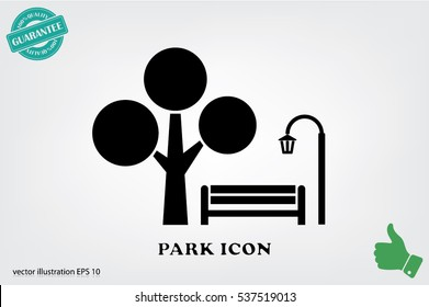 Park icon vector illustration EPS 10.