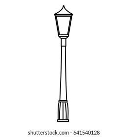 park lantern isolated icon