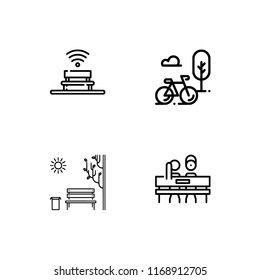 park rest outdoor activities fill outline stock vector royalty free