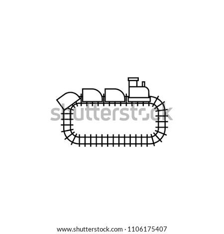 park train locomotive icon vector linear stock vector royalty free