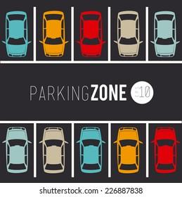 Parking design over gray background, vector illustration