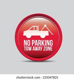 Parking design over gray background, vector illustration.