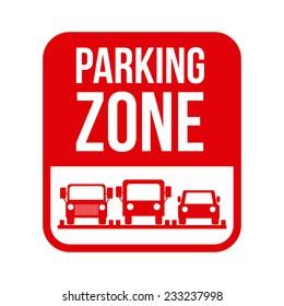 Parking design over white background, vector illustration.