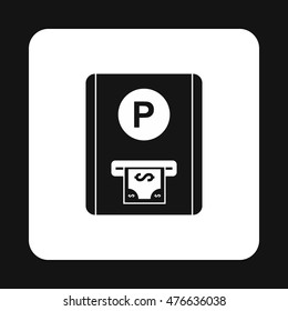 Parking fees icon in simple style isolated on white background. Payment symbol