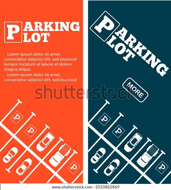 Parking lot flyers in minimalist style