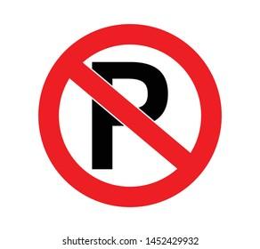 parking forbidden sign for traffic order