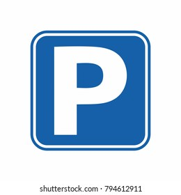 Parking icon vector. Icon parking