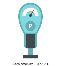 Parking meter icon in flat style isolated on white background