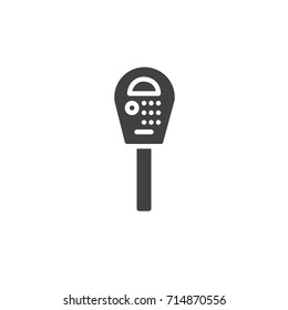 Parking meter icon vector, filled flat sign, solid pictogram isolated on white. Symbol, logo illustration.
