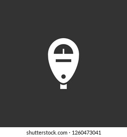 parking meter icon vector. parking meter sign on black background. parking meter icon for web and app