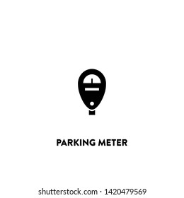 parking meter icon vector. parking meter sign on white background. parking meter icon for web and app