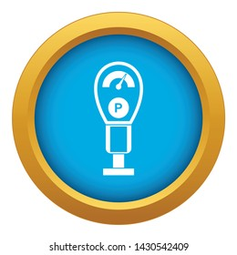 Parking meters icon blue vector isolated on white background for any design