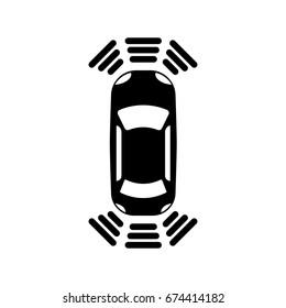 The parking sensor icon. Car symbol. Flat design. Stock - Vector illustration