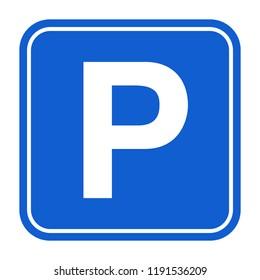Parking sign vector illustration