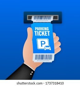 Parking tickets, great design for any purposes. Parking zone. Vector stock illustration.