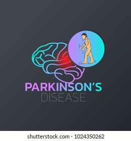 Parkinson's Disease icon design, medical logo. Vector illustration