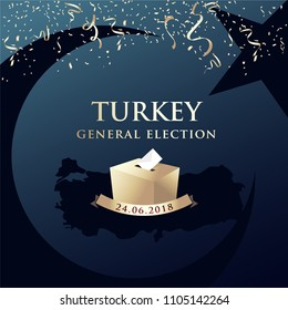 Parliamentary general elections in Turkey 2018.